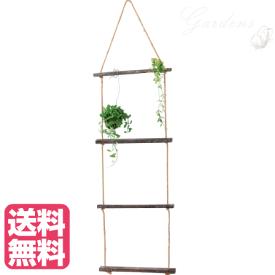 ビンテージロープラダー ディスプレイ 植物 飾り インテリア 天然素材 壁面演出 インドアグリーン インテリアグリーン プランツ 室内 おしゃれ ファブリックス 【送料無料】
