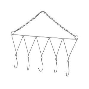 ハンギング アイアン ウォール フック トライアングルチェーン シルバー ガーデニング ハンガー ワイヤー 園芸 ドライフラワー 作る 吊るす ドライハーブ
