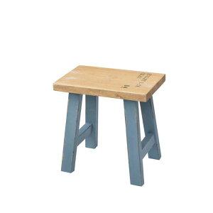 木製 花台 スツール 平和な日常 Platique タイプA ブルー フラワースタンド おしゃれ ウッド チェア アンティーク 台 天然木