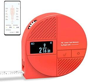 身体測定デジタルメジャー PIE 推移管理Bluetooth スマホ連動ダイエット 巻尺 体脂肪率 フィットネス トレーニング