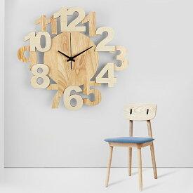 【対象商品ポイント15倍】【スーパーDEAL開催中】GMS01799 送料無料 北欧風 時計 ファッション おしゃれ アートクロック デザイン 木製 無垢材 連続秒針 静か 壁掛け 掛け時計 型番:GMS01799 【hween_d19】