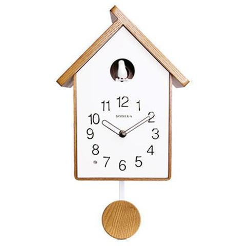 【対象商品ポイント15倍】【スーパーDEAL開催中】GMS01831 【送料無料】 北欧風 時計 ファッション おしゃれ 鳩時計 はと時計 大 掛け時計 ホワイト ナチュラル 木 シンプル gms01831