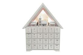 【対象商品ポイント15倍】【スーパーDEAL開催中】GMS01863 送料無料 ホワイト 白 無地 カウントダウン アドベントカレンダー サンタ カレンダー 北欧 可愛い 木製 家 ハウス クリスマス イベント インテリア GMS01863
