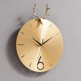 【対象商品ポイント15倍】【スーパーDEAL開催中】gms02009 送料無料 ゴールド 時計 ファッション おしゃれ アートクロック デザイン 連続秒針 静か 壁掛け 掛け時計 型番:gms02009 【hween_d19】