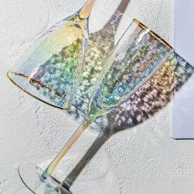 【最大5,000円OFFクーポン配布中】【スーパーDEAL開催中】【対象商品ポイント15倍】GMS02030 プレゼント お祝い 記念品 ギフ ト クリスタル製 レインボー 高級 おしゃれ シャンパン 洋酒 ワイングラス グラス