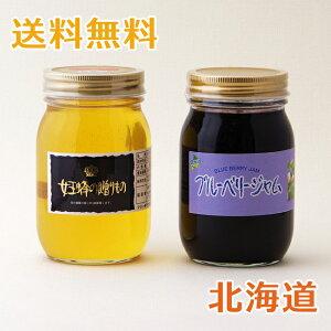 アカシア蜂蜜&ブルーベリージャムセット 北海道産 600g/500g