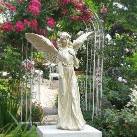 女神像 高さ51.5cm 送料無料 天使 石像 美しいオブジェ スタンディングエンジェルB ガーデニング ガーデン 雑貨 オーナメント おしゃれ 置物   ギフト対応 あす楽