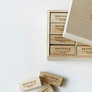 RESTFOLK レストフォーク カンフルツリー ブロック 24個 木箱入り 【ラッピング対応】 【メッセージカード対応】 防虫剤 虫よけ 天然木 引き出し用 日本製 おしゃれ ギフト くすのき ノンケミ