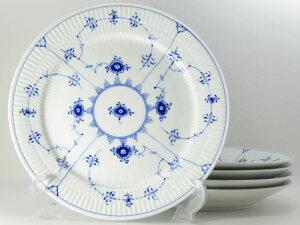 ロイヤルコペンハーゲン プレート■ブルーフルーテッド プレインレース ディナープレート 大皿 5枚 セット