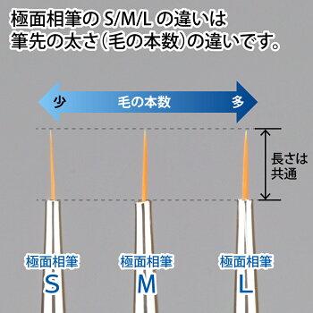 神ふで極面相筆S/M/L【ネコポス選択可】ゴッドハンドオリジナル直販限定日本製模型用超極小筆超極細筆塗装筆