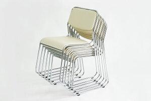 ■送料無料■新品■◆5脚セット◆ミーティングチェア会議イス会議椅子スタッキングチェアパイプチェアパイプイスパイプ椅子◆ベージュ◆