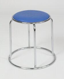 送料無料 中古品 ノーリツ製 業務用椅子 椅子 オフィスチェア オフィス 丸椅子 スツール 会議用 ブルー