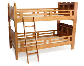 送料無料 新品 宮付き二段ベッド 二段ベッド 2段ベッド シングルベッド すのこベッド ブラウン