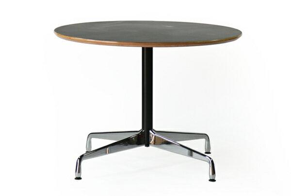 ■送料無料■訳あり■イームズ コントラクトテーブル 丸テーブル アルミナムテーブル ラウンドテーブル 直径100 cm 高さ74cm ■ブラック TA