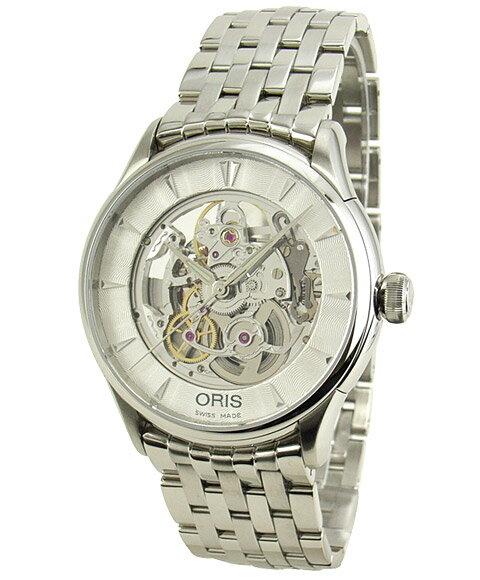 オリス アートリエ 73476704051M スケルトン 自動巻 腕時計 メンズ ORIS 734 7670 4051M メタルブレス