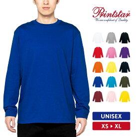 Tシャツ メンズ 大きいサイズ 半袖 ロンT 無地 おしゃれ スポーツ アメカジ 綿100% Printstar(プリントスター) 5.6オンス ヘビーウェイト長袖Tシャツ 00102-CVL
