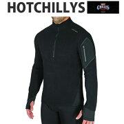 HOTCHILLYS(ホットチリーズ)モンタナジップアップメンズHC4033ベースレイヤートップスシャツインナー冬スキースノボアウトドア雪山