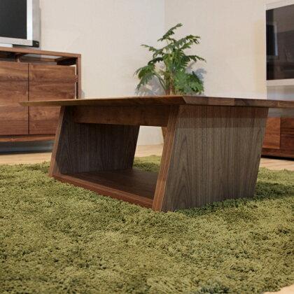 LIVWOOD商品名|ウィングリビングテーブル110cmカラー|ブラウンウォールナット柄サイズ|幅1100奥行600高さ350mm生産国|国産日本製北欧ローテーブル完成品ミッドセンチュリーモダンコーヒーテーブル