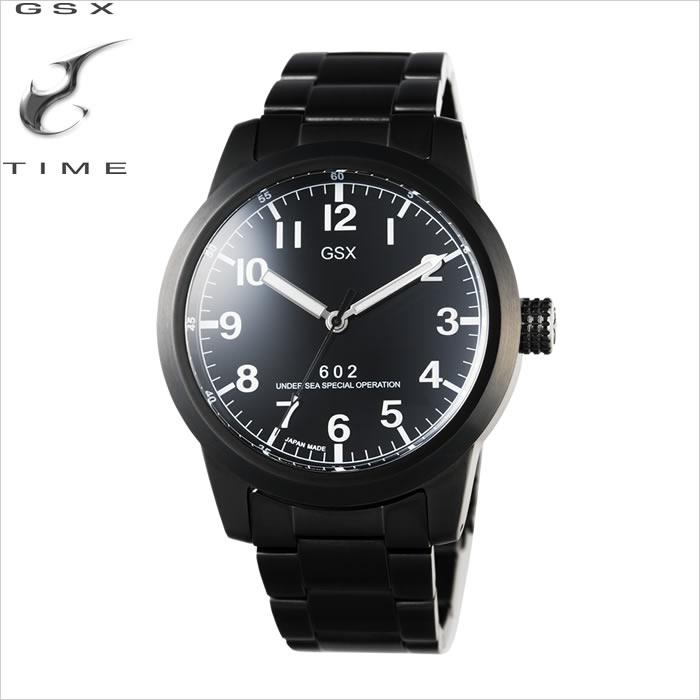 【アウトレット outlet】ジーエスエックス[GSX]600series[600シリーズ]45mm 手巻機能付 自動巻 GSX602BBK メンズ【腕時計 時計】【ギフト プレゼント】