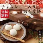 チョコレート入り羽二重餅(12個入り)