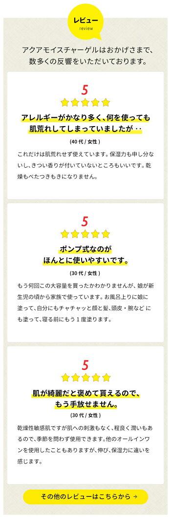 肌まるアクアモイスチャーゲル/レビュー/ポンプ