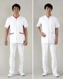 アプロンアパレル(apron)604-83.86.87.88AP メンズジャケット 前開きS〜3L医療ユニフォーム ナースウェア