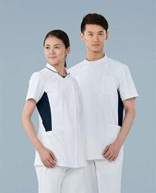 カゼン (KAZEN) 057-25・28 メンズジャケット半袖S〜5L医療ユニフォーム ナースウェア