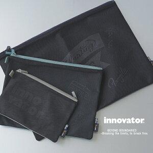 イノベーター innovator トラベルグッズ 小物 ダブルジップメッシュポーチ Lサイズ 14L コンビニ受け取り対応 Double zip travel mesh pouch