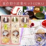 【送料込】夏の彩り涼菓セット12個入