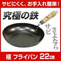 リバーライト極ROOTSフライパン22cm【RIVERLIGHT鉄フライパン】【木村屋百貨店】