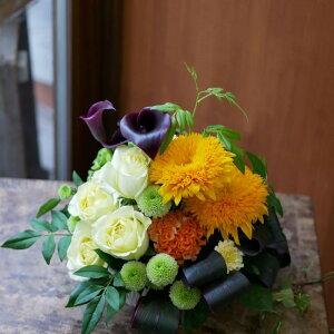 フラワー アレンジメント 花 かわいい 誕生日 お祝 開店祝い プレゼント ひまわり バラ カラー 八重のひまわり が かわいい アレンジ 送料無料 母の日