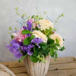 フラワー アレンジメント 花 かわいい 誕生日 お祝 開店祝い プレゼント カラー チューリップ バラ アレンジ 送料無料