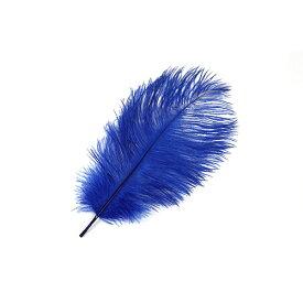 オーストリッチ小 15-25cm (青) この羽根はディスプレイ、アクセサリー、ヘットドレス等に使用されてます。