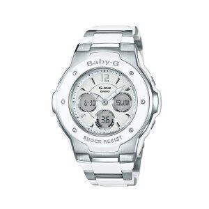 カシオ CASIO レディース腕時計 BABY-G MSG-300C-7B3JF ホワイト/ホワイト