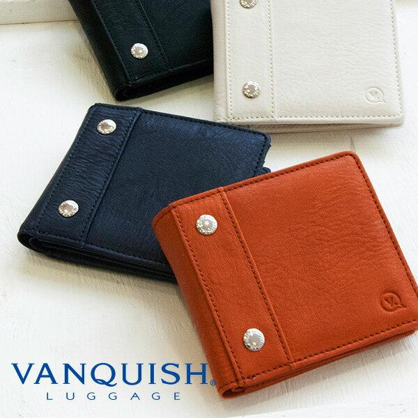 (全品ポイント10倍 超ポイントバック祭)VANQUISH LUGGAGE/ヴァンキッシュ シガーポケットシリーズ 二つ折り財布 コンパクトウォレット フェイクレザー 合成皮革 ウォレット 財布 メンズ 男性 プレゼント ギフト