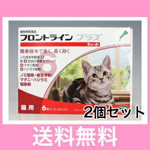 ◎◎【メール便・送料無料】猫用 フロントラインプラス 6本入 [2個セット]※パッケージリニューアルに伴い、お手元に届く商品が掲載写真と異なる場合がございます。