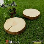 天然木の台座ディスプレイスタンドスギの木切り株約10cm木製2個セットMD-015杉の木皮付き日本製あす楽宅配便のみ