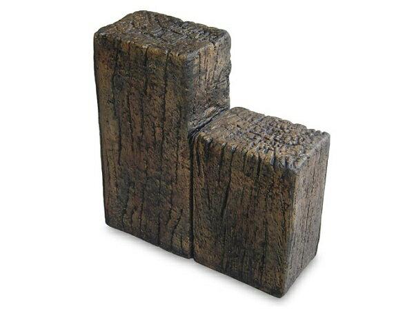 コンクリート枕木 スリーパーエッジャー A 段違2連 ×3個(N95835)  枕木 コンクリート コンクリート製 庭 敷石 アプローチ 通路 擬木 リアル 腐らない 丈夫 ガーデン エクステリア 送料無料 nxt