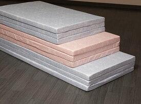 【固綿マットレス セミダブル】 硬めの寝心地 厚さ5cm 日本製 軽量 三つ折り コンパクト収納 通気性 透湿性 120×201×5cm 2カラー