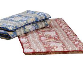 【羊毛敷きふとん】柄込 羊毛 めん綿 エステル 吸湿 保湿 自然な眠りをお届け セミダブル 120×210cm