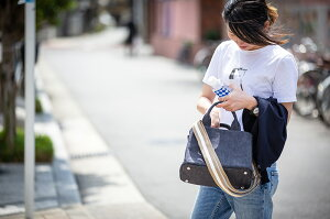 デニムトートバッグショルダーバッグレディース【Banneバンネ】無地通勤通学バッグbyHAYNI