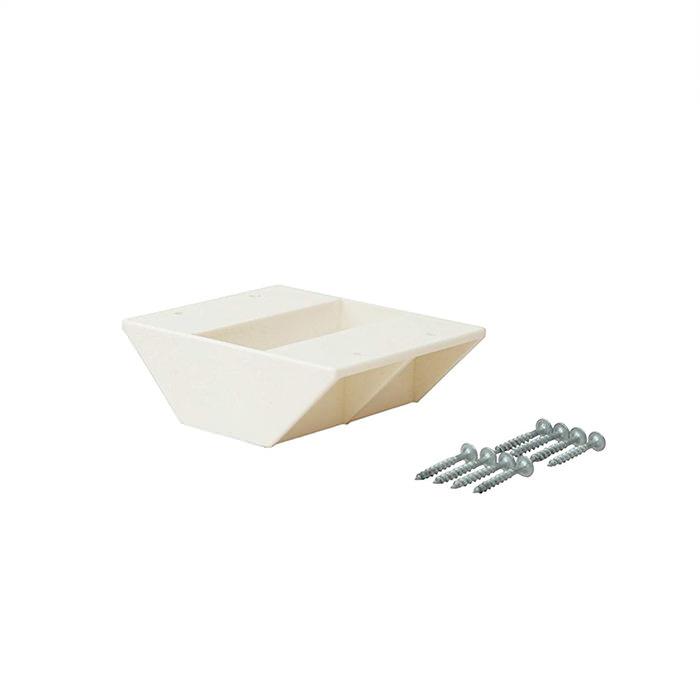 【公式】 平安伸銅工業 LABRICO ラブリコ DIY収納パーツ 2×4棚受ダブル オフホワイト DXO-3