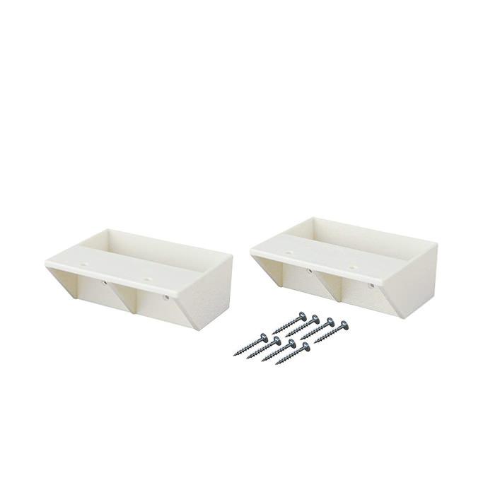 【公式】 平安伸銅工業 LABRICO ラブリコ STAPLER FIX シリーズ 2×4 棚受シングル オフホワイト DXW-2