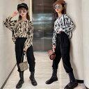 韓国子供服 セットアップ 女の子 カジュアル ファッション 上下セット キッズ ジュニア 秋服 2点セット パーカー + カ…