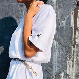 【KANGOL カンゴール】 ワッペン Tシャツ メンズ レディース ユニセックス ペア ブランド かわいい おしゃれ スポーツ 綿100% 綿 コットン ロゴ 無地 カジュアル ストリート 人気 リンクコーデ
