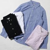 【PROJECTSR'ES】OXシャツメンズ長袖ボタンダウンオックスフォードカジュアルビジネス白シャツ黒シャツ無地トップス