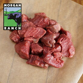 モーガン牧場ビーフ ヒレ角切り 450g 最高品質 アメリカンビーフ 熟成 グラスフェッド グレインフィニッシュ ホルモン剤不使用 抗生物質不使用