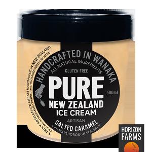 手作り ナチュラル アイス クリーム 塩キャラメル ニュージーランド産 500ml グルテンフリー 高級 お菓子 高品質 スイーツ おやつ 安全な アイス おしゃれ ギフト 贈り物 人工甘味料不使用 乳