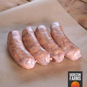 100% 無添加 無塩せき 砂糖不使用 国産 北海道 放牧豚 豚肉使用 高品質 ピリ辛 イタリアンスタイル 生ソーセージ 4本 サルシッチャ ホルモン剤不使用 抗生物質不使用