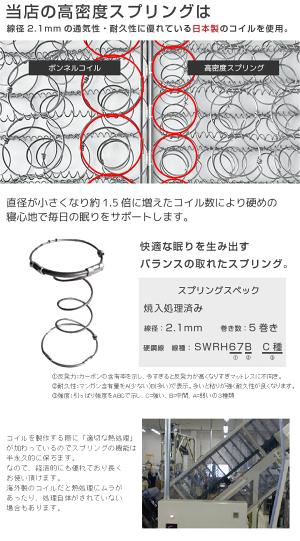 日本製高密度スプリング